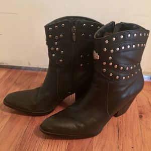 Harley Davidson Leather Boots 10 Clip-Ity Clop
